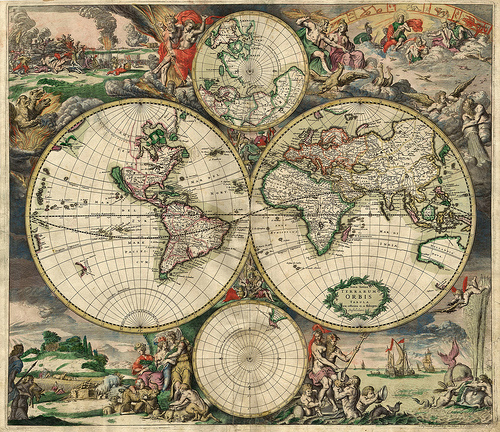 World Map from 1689 by Gerard van Schagen