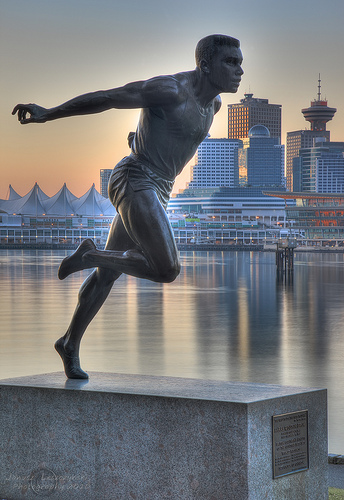 Harry Winston Jerome Statue in Vancouver